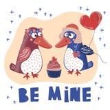AMOUR FOL Valentine Day Cartoon Animal Set illustration de vecteur