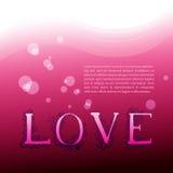 Amour Fond avec les lettres graphiques Photos libres de droits