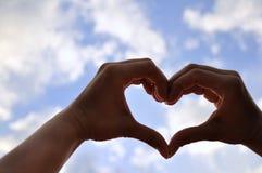 Amour formé par mains Photos libres de droits