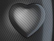 Amour : Forme de coeur de fibre de carbone Photographie stock libre de droits