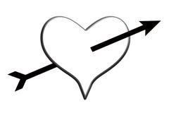 Amour frappé Image libre de droits