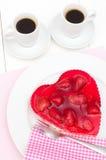 Amour - gâteau de fraise Images stock