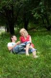 Amour, garçon et fille Images libres de droits