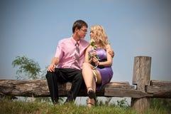 Amour, garçon et fille Photo stock