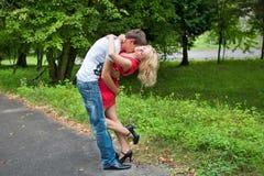 Amour, garçon et fille Photo libre de droits