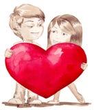 Amour grand Image libre de droits