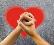 Amour gravé sur le mur Images libres de droits