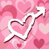 Amour grunge Images libres de droits