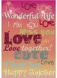 Amour heureux Image libre de droits