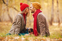 Amour heureux Photographie stock libre de droits