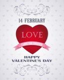 Amour heureux de carte de jour de valentines rétro Image libre de droits