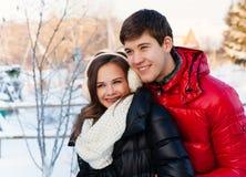 amour heureux de couples de fond au-dessus de blanc de sourire Photos libres de droits