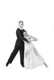 amour heureux de couples de fond au-dessus de blanc de sourire Photos stock