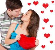 amour heureux de couples de fond au-dessus de blanc de sourire Au-dessus du fond blanc Photo stock