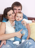 Amour heureux de famille Photos libres de droits