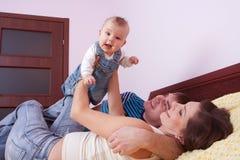 Amour heureux de famille Images stock
