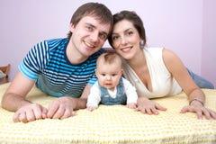 Amour heureux de famille Image stock