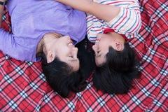 Amour heureux de famille Image libre de droits