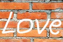 Amour - inscription sur le mur Image libre de droits