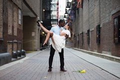 Amour intense dehors Photos libres de droits