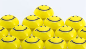 Amour jaune Photographie stock
