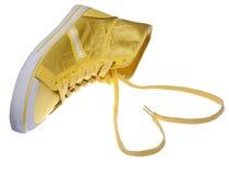 Amour jaune d'espadrille Image libre de droits