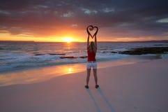 Amour Jervis Bay Australia de voyage d'amour en été Photos stock