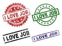AMOUR JOB Seal Stamps d'I texturisé rayé Illustration de Vecteur