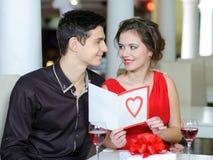 Amour. Jour de valentines Photographie stock libre de droits