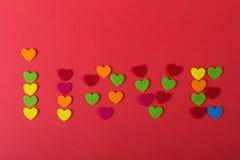 Amour Jour du ` s de St Valentine Beaux coeurs Photo libre de droits