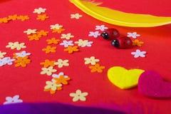 Amour Jour du ` s de St Valentine Beaux coeurs Photos libres de droits