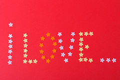 Amour Jour du ` s de St Valentine Beaux coeurs Photographie stock libre de droits