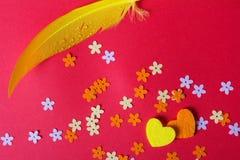 Amour Jour du ` s de St Valentine Beaux coeurs Image libre de droits