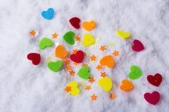 Amour Jour du ` s de St Valentine Beaux coeurs Images libres de droits
