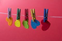 Amour Jour du ` s de St Valentine Beaux coeurs Images stock