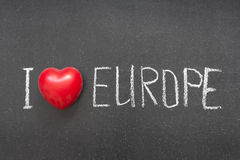 Amour l'Europe Photo libre de droits