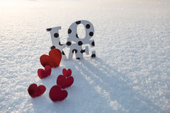 Amour la Saint-Valentin Photo stock