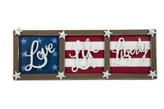 Amour, la vie, liberté Image stock