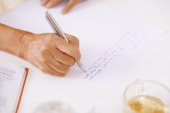 Amour-lettre d'écriture Images libres de droits
