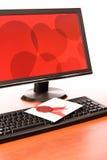 Amour-lettre sur le clavier d'ordinateur Images stock