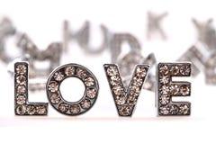Amour (lettres de diamant) Photographie stock