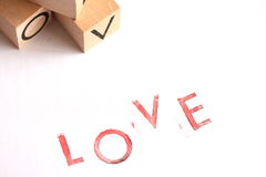 AMOUR - Lettres embouties Photographie stock