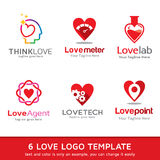 Amour Logo Template Design Vector Image libre de droits