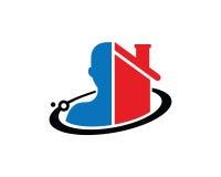Amour Logo Template Design Vector, emblème, concept de construction, symbole créatif, icône de personnes Photo stock