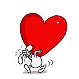 Amour lourd Image libre de droits