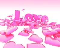 Amour lustré Photos stock