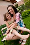 Amour - mère et enfant Images stock