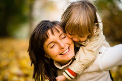 Amour - mère et enfant Photos stock