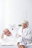 Amour mûr d'homme et de femme Photo libre de droits
