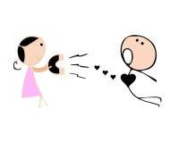 Amour magnétique illustration de vecteur